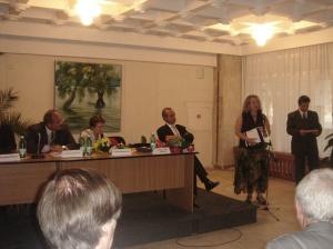 Angela Furtuna la fest poeti Balcani, sept 2009 DSC05938
