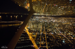 night flying over San Francisco