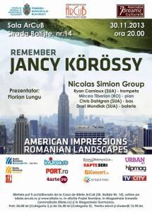 afis jazz Mircea Tiberian, Nicolas Simion group et Co