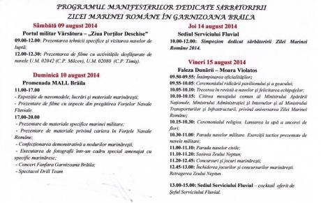program Ziua Marinei, Braila