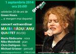 la Green Hours, concert Maria Raducanu 1 sept