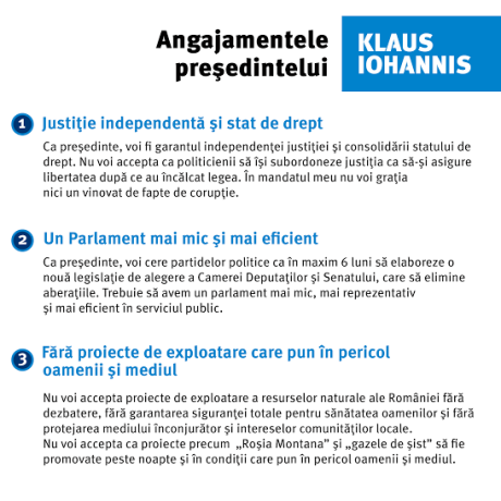 Klaus Iohannis, din promisiuni electorale