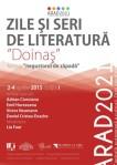 afis Zile si seri de literatura Arad