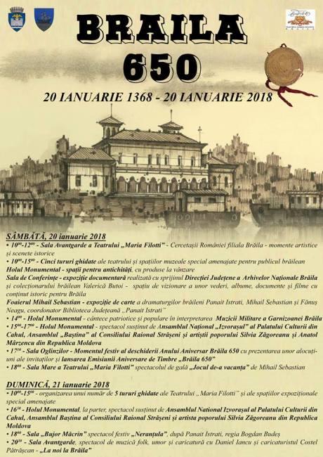Brăila 650 Ani Evenimente Aniversare La Teatrul Maria Filotti