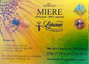 Haney Loriana sau Mierea - Sănătatea familiei tale (Dan & Loredana Iorga) producători local de miere