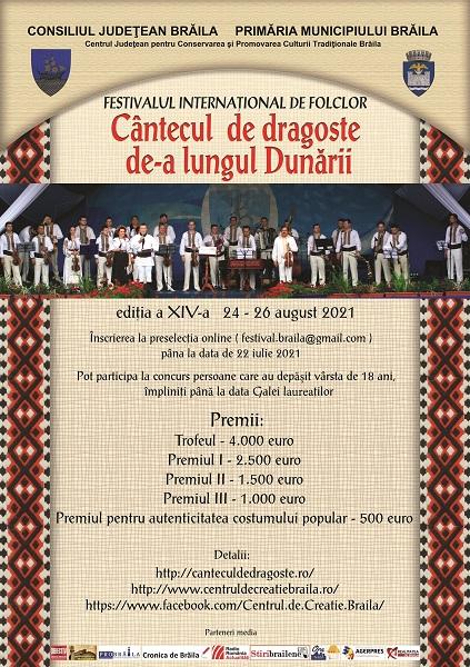"""Festival 2021 """"Cântecul de dragoste de-a lungul Dunării"""""""